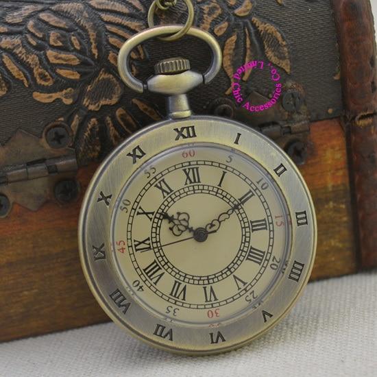 Wholesale Buyer Price Good Quality Fashion Lady Girl Quartz Vintage  Round Roman Numeral Pocket Watch Necklace Hour