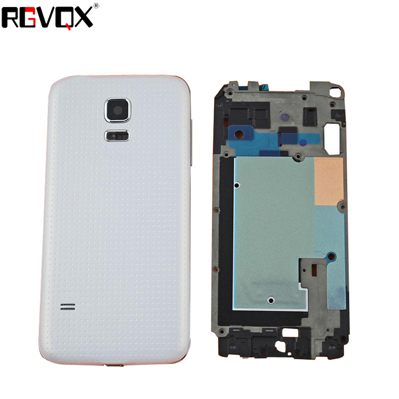 New Complete Upper+Middle Frame+Battery Cover For <font><b>SAMSUNG</b></font> Galaxy S5 Mini <font><b>G800F</b></font> G800A G800HQ Housing Battery Cover High Quality image