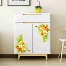 watercolor Flower wall Stickers bathroom Cabinet Stove Refrigerator cupboard beautiful Decoration Wall stickers decals