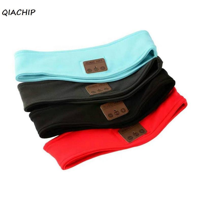 QIACHIP Wireless Bluetooth music Headband Headset Sleep Sports headpiece headkerchief Running yoga Gym Phone headphone Handsfree