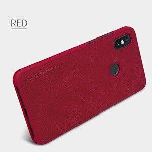 Image 3 - Xiaomi Redmi Hinweis 6 Pro Leder Fall NILLKIN Qin Serie Wallet Flip Abdeckung Fall Für Redmi Hinweis 6 Pro Echtem flip Leder Fall