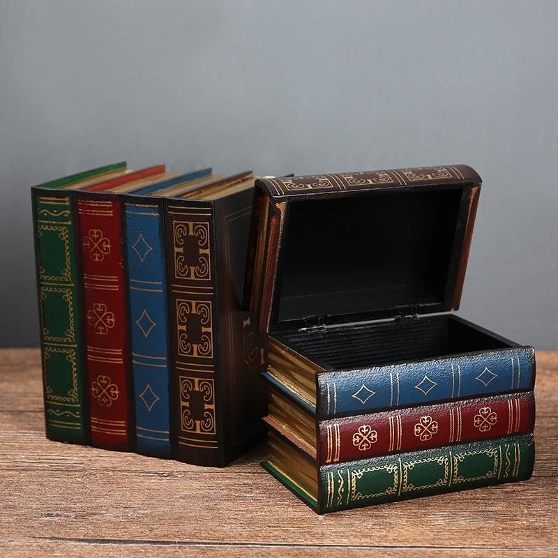 Euro Estilo Vintage Caixa De Armazenamento De Jóias Pingente de Presente Trinket Treasure Retro Casos de Caixas de Madeira Decoração do Agregado Familiar