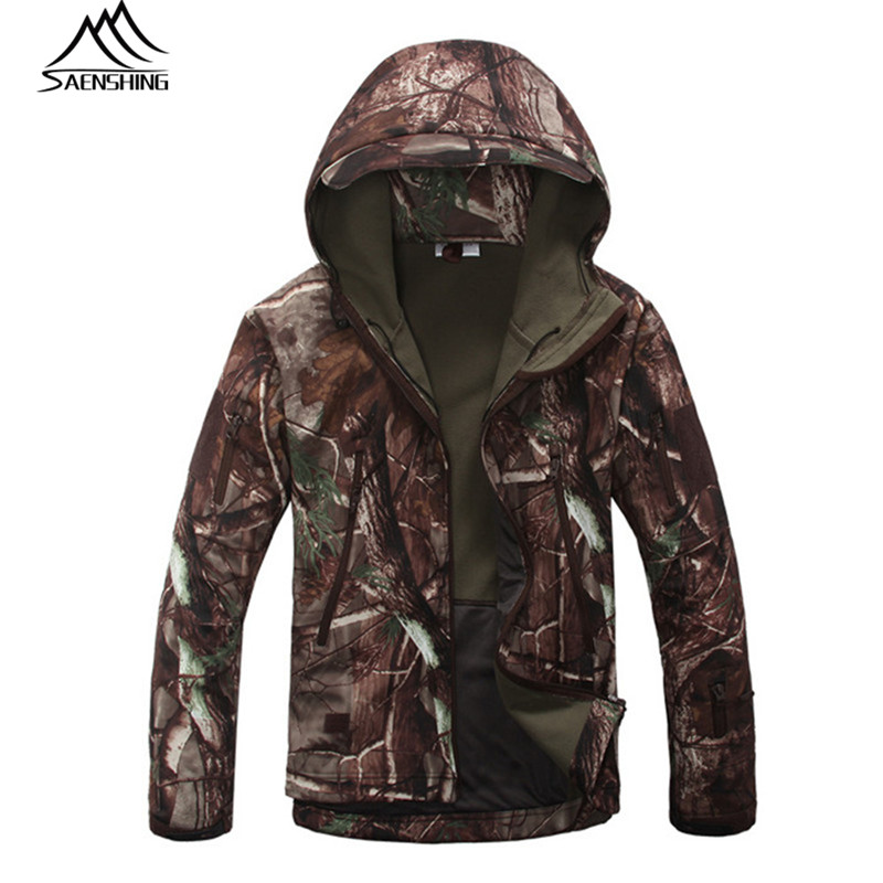 Saenshing Hunting Clothes Men Winter Hunting Jacket Softshell Waterproof Windbreak Thermal Spring Autumn Outdoor Jacket S-XXXL