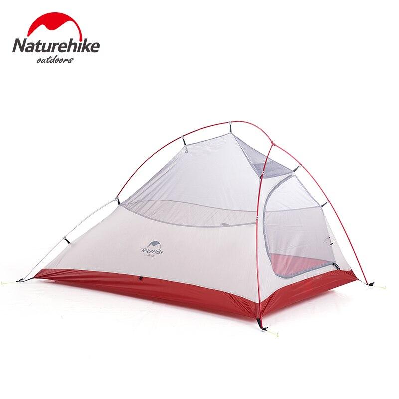Naturel randonnée libre auto debout 20D Silicone tente Double couches 1 2 3 personne ultra-léger en plein air Camping tente nuage UP mis à jour - 4