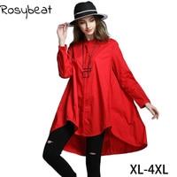 Plus Size Blouses Women Blouses and Tops 2017 New Fashion Oversize Ladies Elegant Autumn Winter Clothing Big Long Sleeve 4xl 6xl
