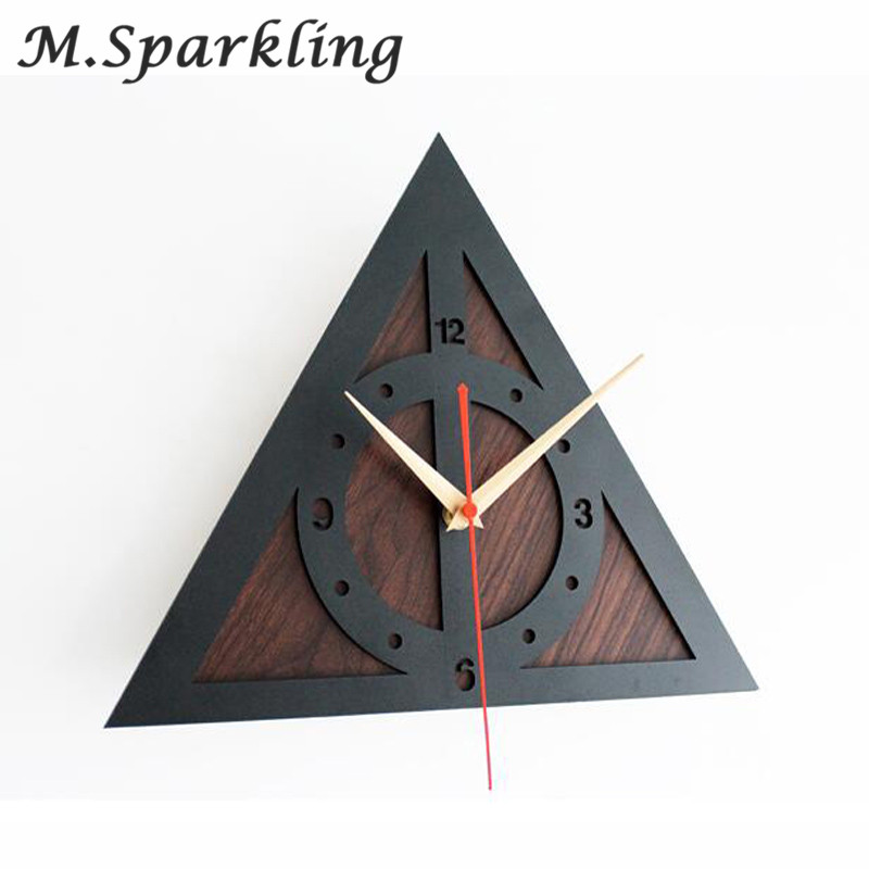 Wall Clock Retro Home Decor Watch Modern Art Time Harry Potter The Deathly 12 New Design Living Room Silent Quartz Clock