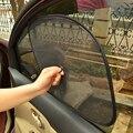 LEEPEE 2Pcs 44*36cm Sonnenschirm Blocker Auto Vorhänge Sauger UV Mesh Sonne Shades Für Front Side und hinten Fenster Auto Styling Schwarz auf