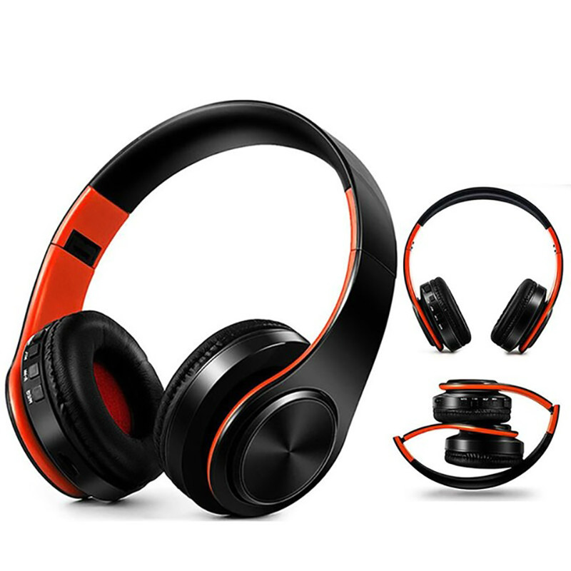 Portable Wireless Bluetooth Headphones Adjustable Foldable With Mic