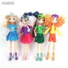 4 pcs / set Nouveau Russe Anime Fée Patrouille Poupée PVC Princesse Action Figurines Vinyle Dress Up Poupées Jouets Cadeau D'anniversaire Pour Les Filles