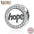 "BAMOER Real 925 Sterling Silver ""Hope"" Letter Alphabet Charm Charms Fit Bracelets & Necklaces For Women Fashion Jewelry SCC088"