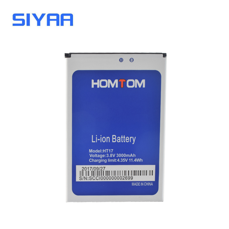 Original SIYAA Battery HT17 For Homtom ht17 Replacement Batteries Original Battery 3.8V High Capacity 3000mAh Li-ion Battery