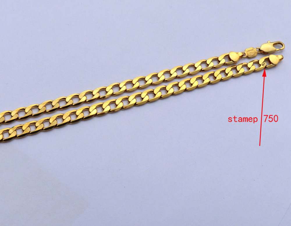 Necklaces & Pendants Jewelry & Accessories Pure 18 K Yellow Gold Gf Necklace Solid Stamep Au750 23.6 Curb Chain Necklace Carat Solid Birthday Valentine Gift Valuable Packing Of Nominated Brand