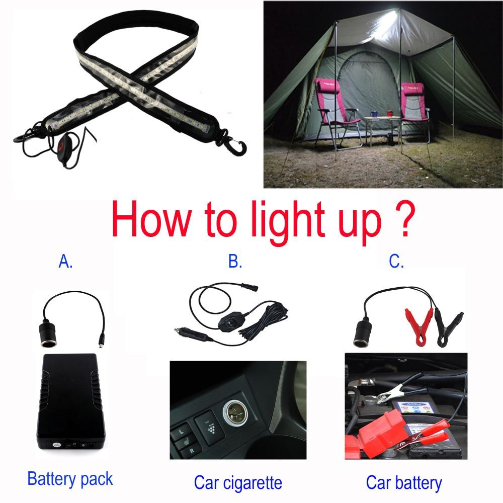 Lámpara impermeable para acampar, linterna, 60 cm, tira de luz, - Iluminación LED - foto 2