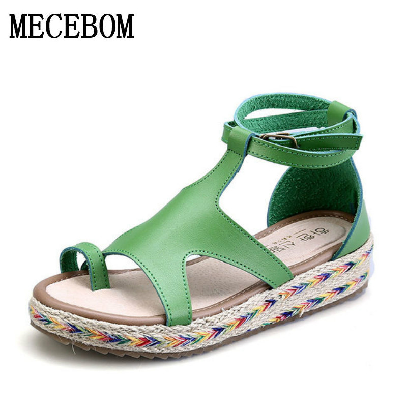 New 2017 Bohemia Fashion Gladiator Sandals Summer Wedges Platform Sandals Women ladies Shoes Woman Beach Girls Sandals 7775W wedges gladiator sandals 2017 new summer platform slippers casual bling glitters shoes woman slip on creepers