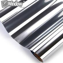 Один способ зеркало оттенок отражающий серебряный 20% 60 «х 16.7» Коммерческий Фильм Окна Применение для дома/здания