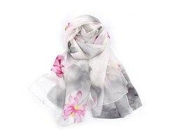 2018 Nuovo nel 100% di seta floreale di stampa di grandi dimensioni sciarpa per le donne