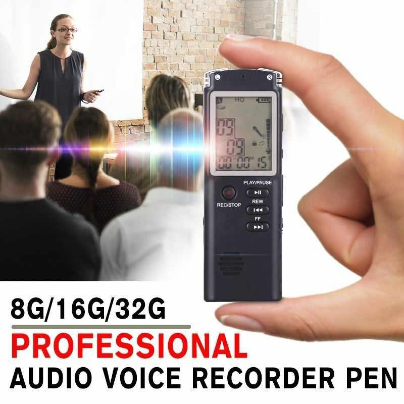 8 ГБ/16 ГБ/32 ГБ MP3 плеер перезаряжаемые запись ручка Цифровой Аудио Голос регистраторы USB флэш диск с микрофоном/наушники