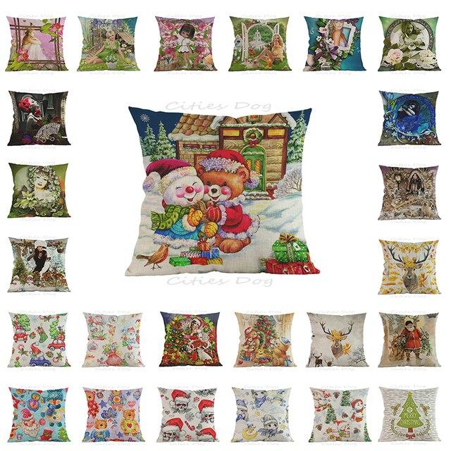 cartoon anime decorative pillow cushion christmas pillows cushions wedding decoration supplies cojines santa claus decorations - Christmas Pillows