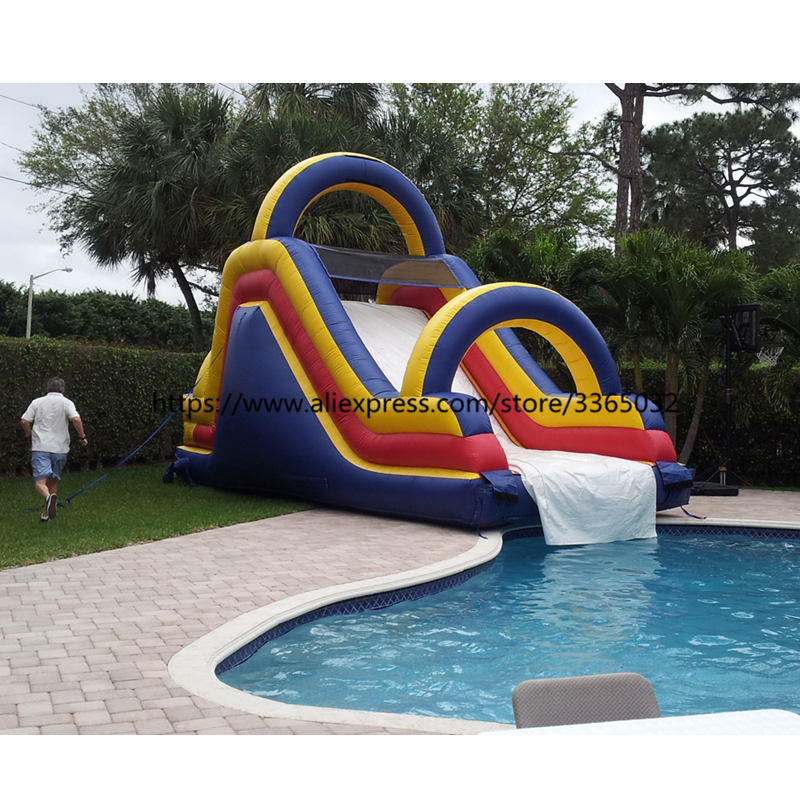 Cheap prices inflatable dry slide, inflatable water slide into swimming pool for sale inflatable slide with pool cheap inflatable water slides