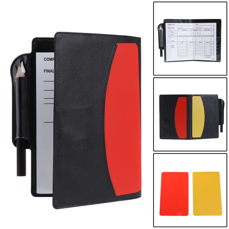 New Sport Football Soccer Referee Wallet Notebook With Red Card And Yellow Card Team Sports Soccer Entertainment