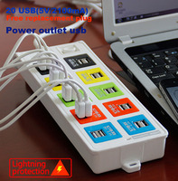 AU EU US In public places usb power strip with surge protection