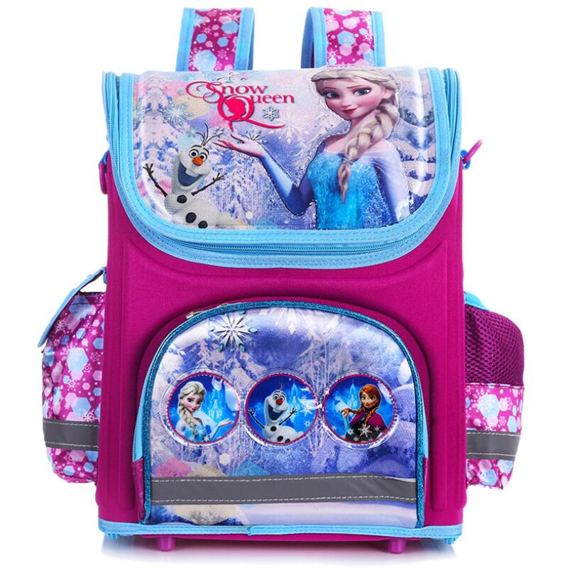New arrivel backpack snow queen School Bag Orthopedic ...