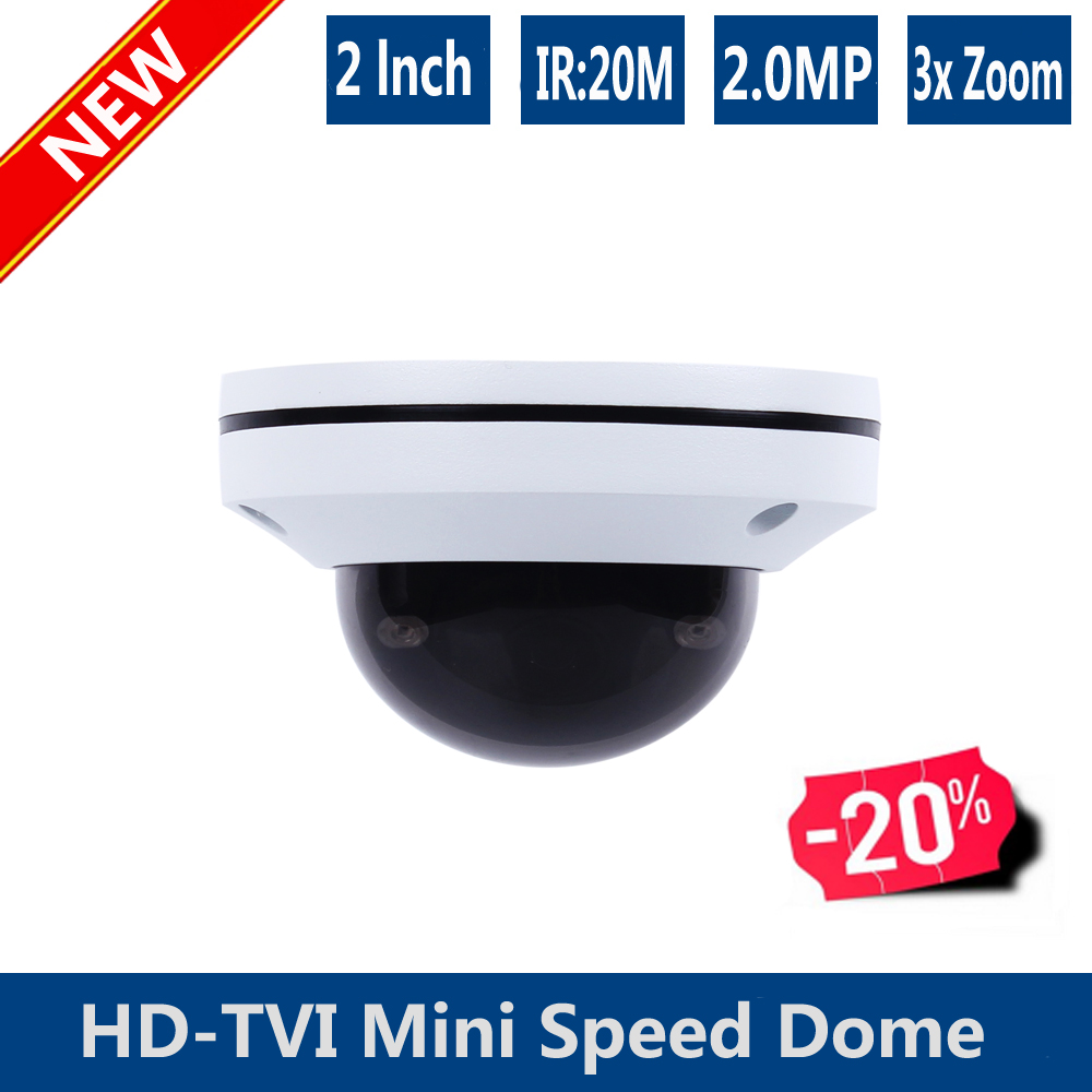 NEW 2lnch mini speed dome 3X zoom 2.8-8mm PTZ  HD-TVI speed dome Camera 1080P TVI CAMERA 2.0MP HD-TVI CAMERA new ahd tvi cvi cvbs 1080p mini ir ptz night vision zoom dome camera zoom lens dome camera with 3x optical zoom 2mp motorized