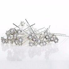 Wedding Hair Pins Simulated Pearl Flower Bridal Hairpins Bridesmaid Hair Clips Women Hair Jewelry Accessories 40 PCS