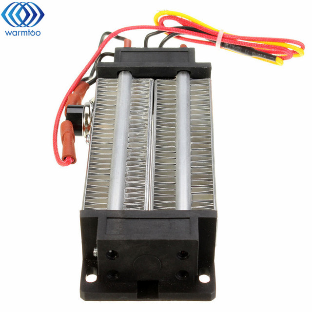 1pcs PTC Ceramic Air Heater Electric Heater Insulative Corrugated Heater 300W 220V AC DC 118*50mm Heat Up Quickly Safety