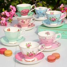 Continental Bone China Fashion Coffee Cup Saucer Tea Set English Afternoon Tea Ceramic Tea Set Piece Suit