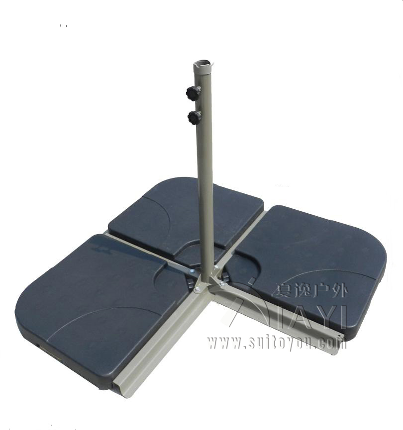 4pcs umbrella base plastic water tank sand base umbrella base resin base