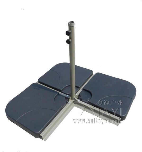 4pcs umbrella base plastic water tank sand base