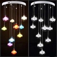 Modern Minimalist Restaurant LED Living Room Bedroom Lamp Lamp Chandelier Glass Ball Bubble Lamp Creative A