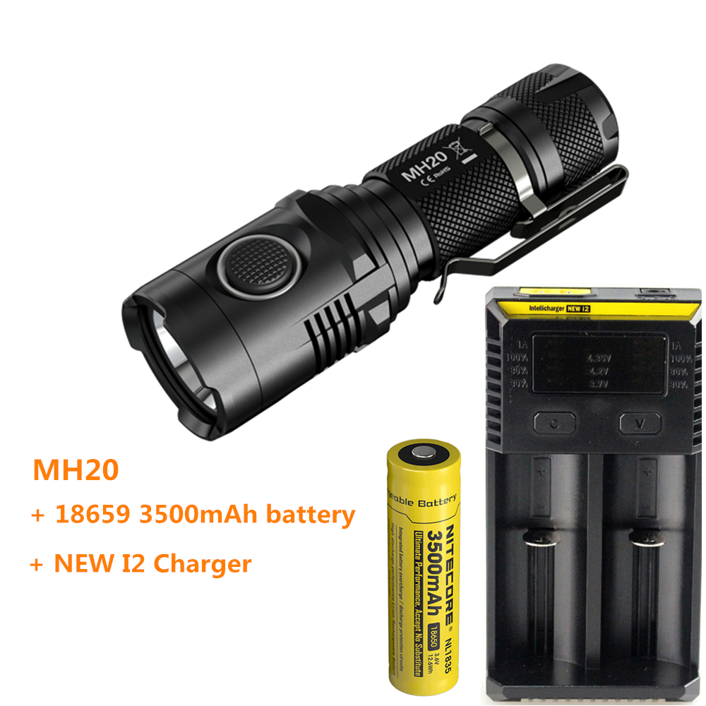 USB Rechargeable Flashilght NITECORE MH20 MH20W XM-L2 U2 LED max.1000LM beam distance 220M small torch + 18650 3500mAh battery flashlight nitecore ec20 cree xm l2 u2 led max 960 lumen beam distance 222 meter torch 18650 3500mah battery new i2 charger