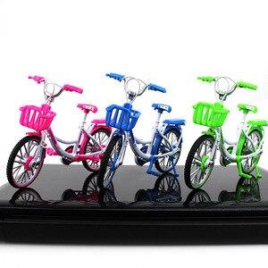 Image 3 - 1:10 ölçekli Diecast Metal bisiklet modeli şehir katlanmış bisiklet yol bisikleti koleksiyonu oyuncak