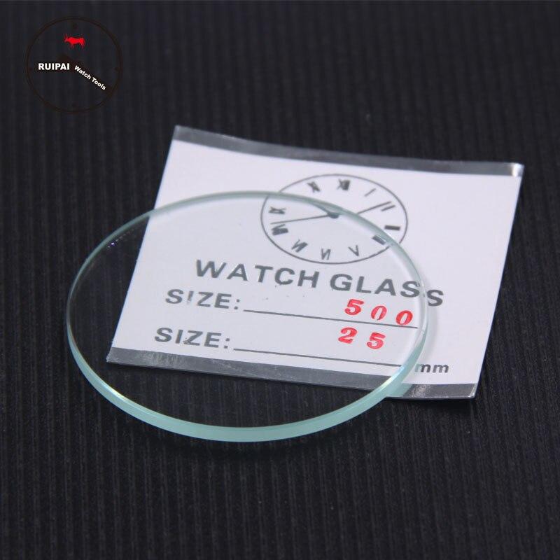 Wholesale 2pcs/lot 2.5mm Thick Watch Glass,46mm-50mm Waterproof Watch Replacement Parts,2pcs Bigger Size Watch Glass