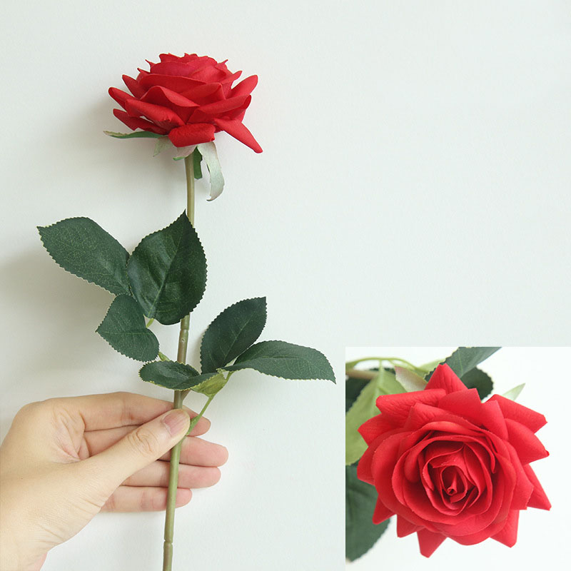 Real touch roses artificial flower wedding home decoration (4)