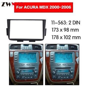 Quadro de carro DVD Player Para 2000-2006 ACURA MDX 2DIN Auto Rádio Multimídia NAVI fáscia