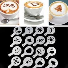 16 шт./компл. DIY украшения торта капучино FoamTool утолщаются кофе латте искусство трафареты плесень-25