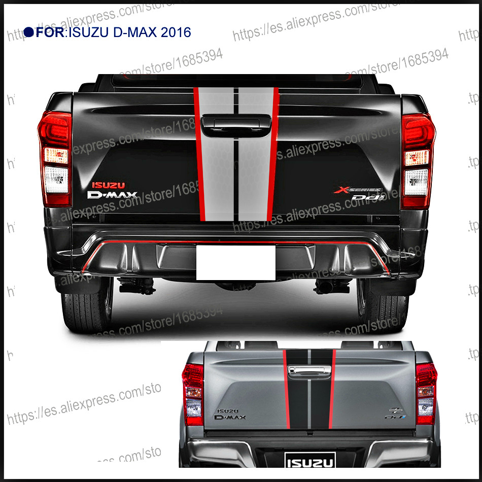 1PC back door handle insert rear door graphic Vinyl car sticker for isuzu dmax 2016 beast PICKUP accessories decal