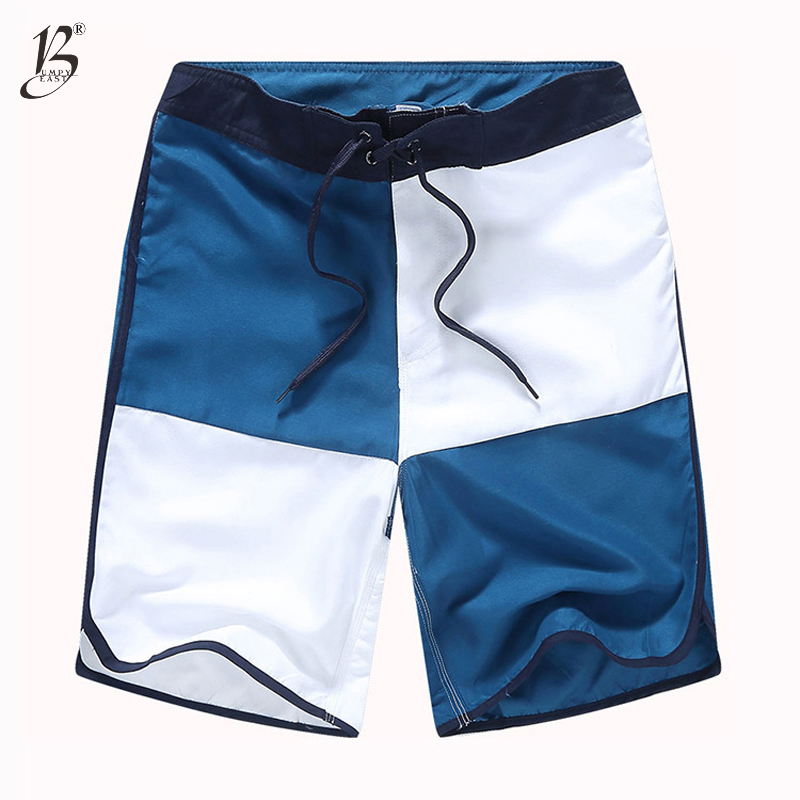 Bumpybeast Brand   board     shorts   men 100%Polyester casual   shorts   men swimwear Plaid patchwork mens beach   shorts