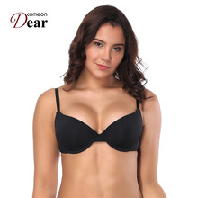 Comeondear Brasier Mujer Smooth Seamless Solid Push Up Bra Nylon Underwire Large Cup Brassiere 80D 85D 85E 90D 90E BA4040