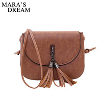 Mara's Dream 2019 Mini Women Messenger Bags Pu leather Women Shoulder Bag Tassel Solid Clutches Chain Women Crossbody Bags Tote