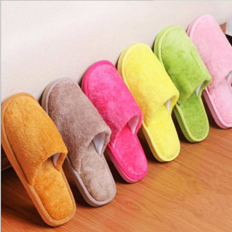 QICIUS New Winter Slippers Women And Men Fleece Home Slippers Pure Color Warm Soft Bottom For Lover Indoor Unisex Couple Flats 2016 winter new soft bottom solid color baby shoes for little boys and girls plus velvet warm baby toddler shoes free shipping