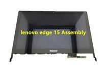 Оригинальный для lenovo edge 15 80k9 серии 15.6 «fhd светодиодный сенсорный жк-экран ассамблеи + рамка новый