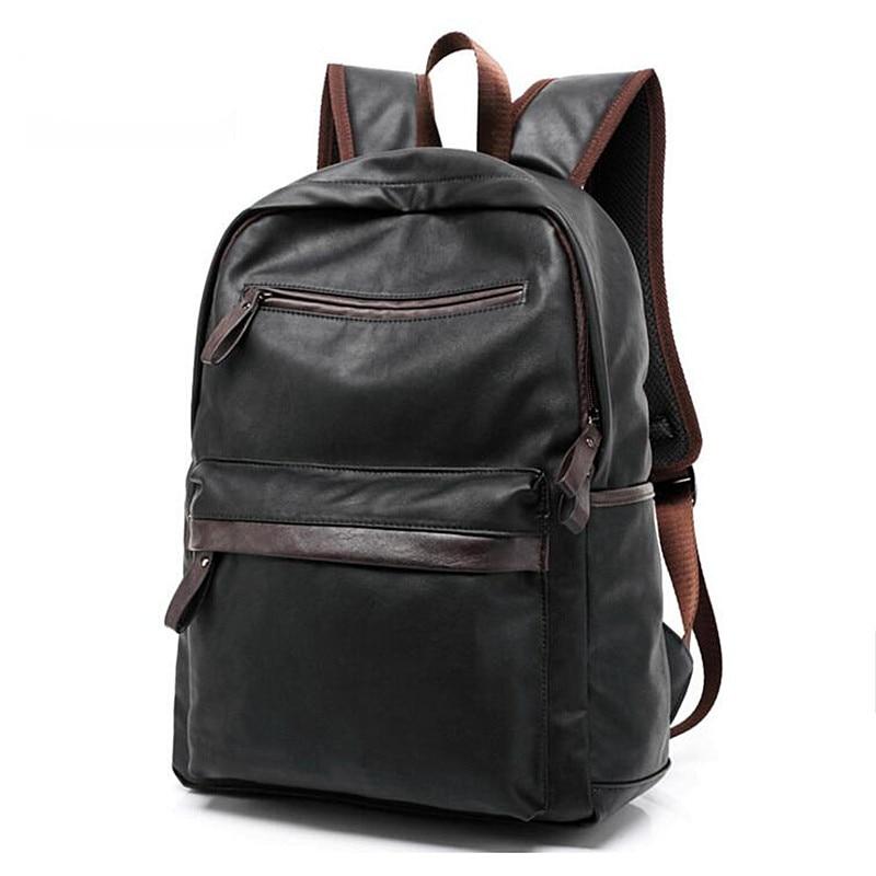 c8d7124a7 2016 Designer homens mochilas de couro Pu saco Mochila escolar para  adolescentes negros mulheres Mochila de viagem Bolsas Mochila Feminina J35