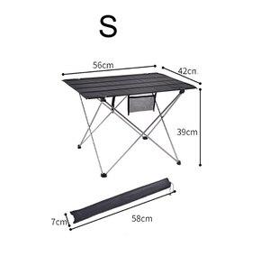 Image 5 - סגסוגת אלומיניום קל במיוחד מתקפל שולחן שולחן קטן גודל נייד מתקפל שולחן מתקפל שולחן קמפינג חיצוני פיקניק