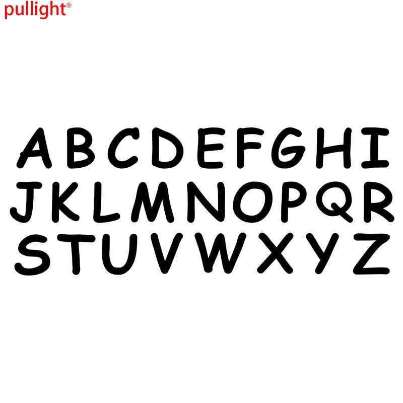 Hot Sell Alphabet Letters A To Z Funny Car Body Diy Decals Vinyl Car Styling Car Stickers