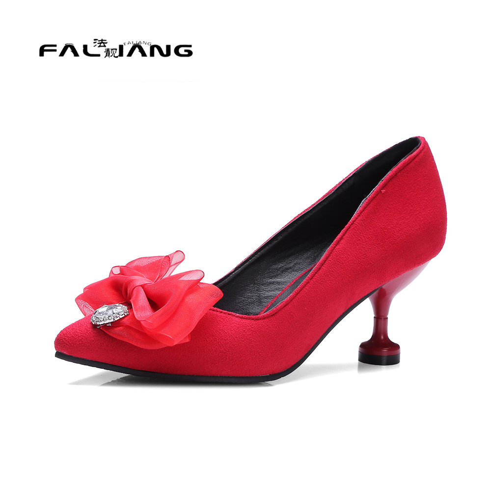 Big Size 11 12 Spring/Autumn Sexy Butterfly-knot Pointed Toe Casual Thin Heels Women's Shoes High Heels Pumps Woman For Women new flock high big size 11 12 women shoes wedges pointed toe woman ladies butterfly knot casual spring autumn sweet single shoes