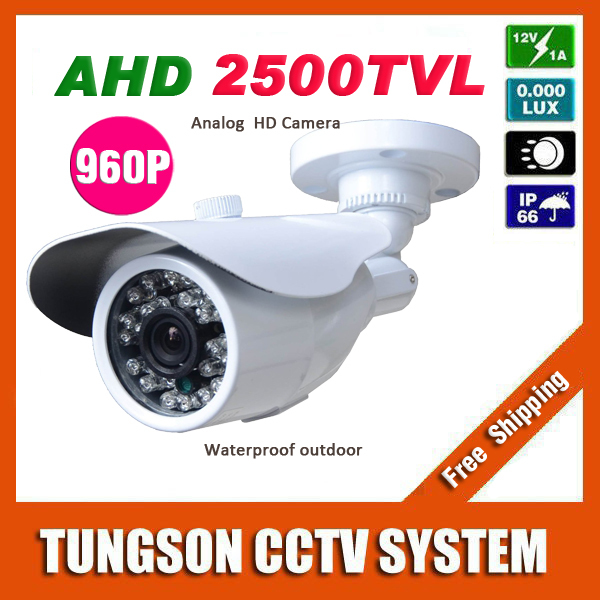 NEW 1.40 MP 1280*960P CCTV Camera 2500TVL Outdoor Waterproof White Mini Bullet IR Security Video Surveillance Free Shipping wistino cctv camera metal housing outdoor use waterproof bullet casing for ip camera hot sale white color cover case